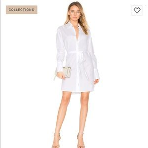 Rag & Bone Essex Shirt Dress in Bright White