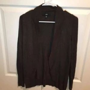 Women's brown mossimo cardigan size xs.