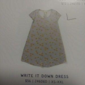 Write it down dress
