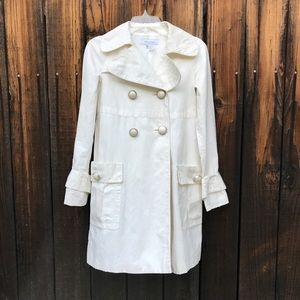 Zara Basic Pea Coat Linen