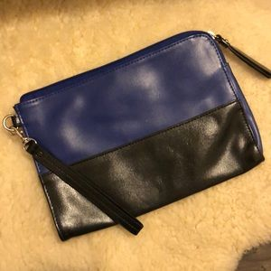 Mossimo leather clutch wristlet
