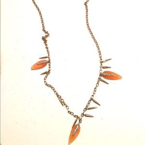 Vince Camuto Silver Necklace Rhinestone Accents