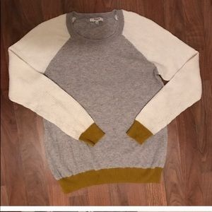 Madewell color block knit sweater