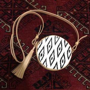 Cynthia Vincent Tribal crossbody purse w/ tassel