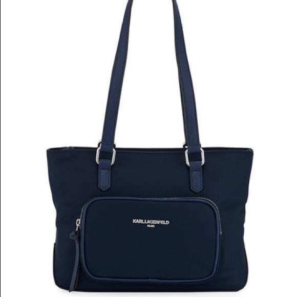Karl Lagerfeld Paris Handbags - Karl Lagerfeld Paris Cara Nylon Mini Tote  Bag 1a5b277f59ece