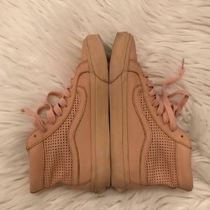 VANS HIGHTOP WOMENS SIZE 8.5 LEATHER NUDE
