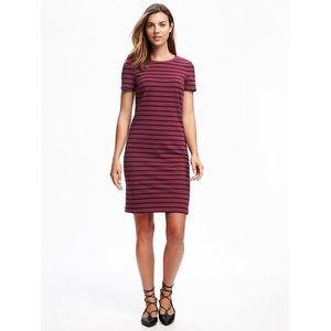 Old Navy Burgundy Striped Dress