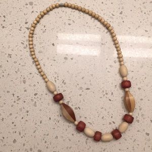 80s Wood Beaded Necklace