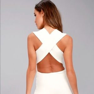 Lulu's Thinking Out Loud Backless Jumper