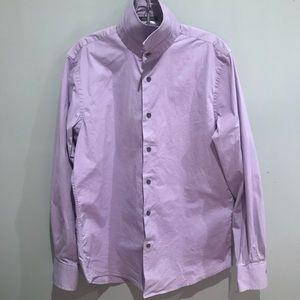 Express Men's Purple Button Up