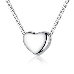 A New Sterling  Silver Heart Necklace