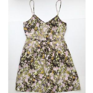 Madewell Floral Silk Strappy Tank Dress