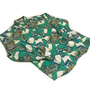 Vintage Long Sleeve Designer 100% Silk Blouse