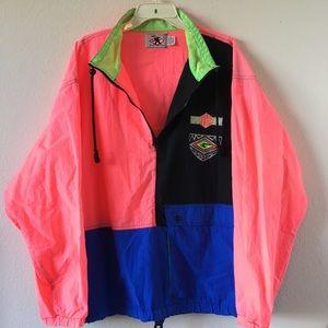 Vintage 1990s Neon Ski Jacket Windbreaker Jacket