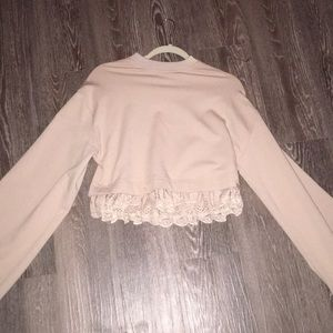 Fenty x PUMA cropped long sleeve sweatshirt