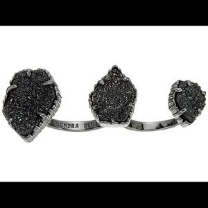 Kendra Scott Naomi Ring Black Drusy