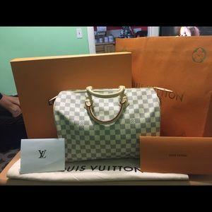 Authentic Louis Vuitton speedy Demi azur