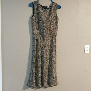 Ann Taylor Loft Size 2 Brown Beige midi Dress