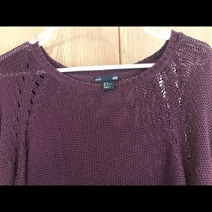 H&M Knitted Burgundy Light Sweater