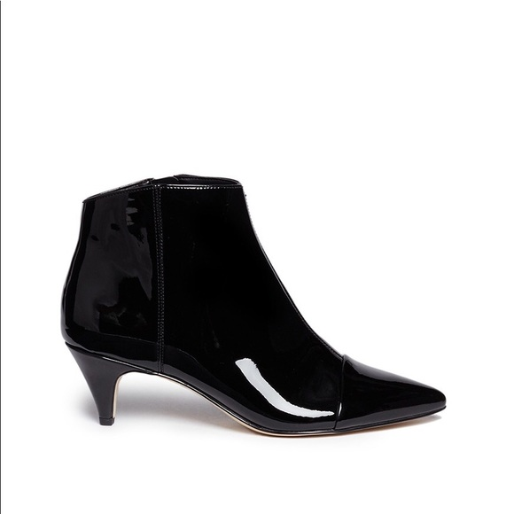 1bddc44b528df7 Sam Edelman Kinzey black patent leather bootie 9.5