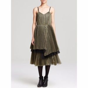 Marc by Marc Jacobs Gold Metallic Tulle Dress