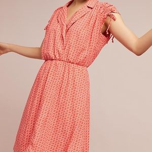 NWT ANTHROPOLOGIE CARLOTTA RUCHED SHIRTDRESS