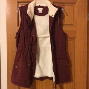 Maroon Hooded vest