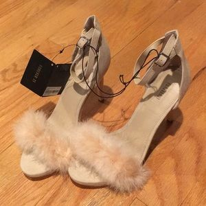 Forever 21 Nude Feather Heels