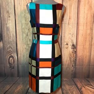 Kate spade color block sheath dress fully lined 4