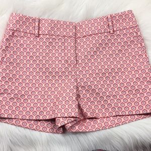 "LOFT Pink Pattern ""The Riviera Short"" Size 4"
