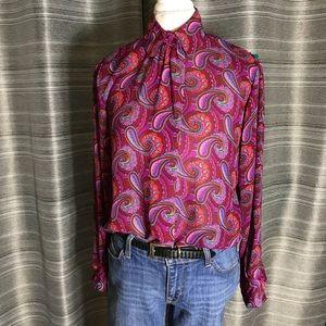 Stunning sheer paisley print blouse - 8