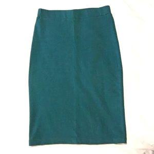 F21 Stretch Knit Pencil Skirt