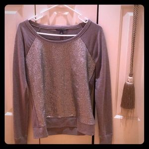 Banana Republic sequined sweatshirt