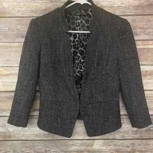Express Peplum Herringbone Suit Jacket