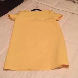Zara Basics Yellow Shift Dress