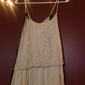 Lace trimmed Cami with Bow