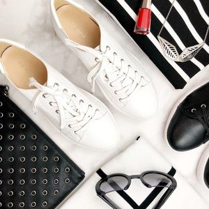 White Leather Minimalist Sneakers
