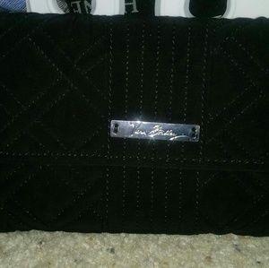 Vera Bradley Black Microfiber Wallet