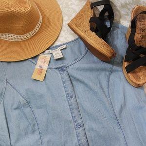 NWT American Rag Denim Dress Sz XL