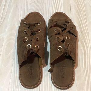 Suede grommet gladiator sandal