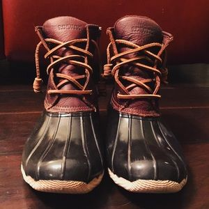 brown Sperry boots!