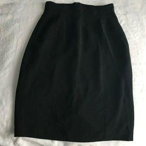 Christian Dior Black Pencil Skirt