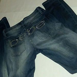 Bebe Skinny Bling Jeans sz 25