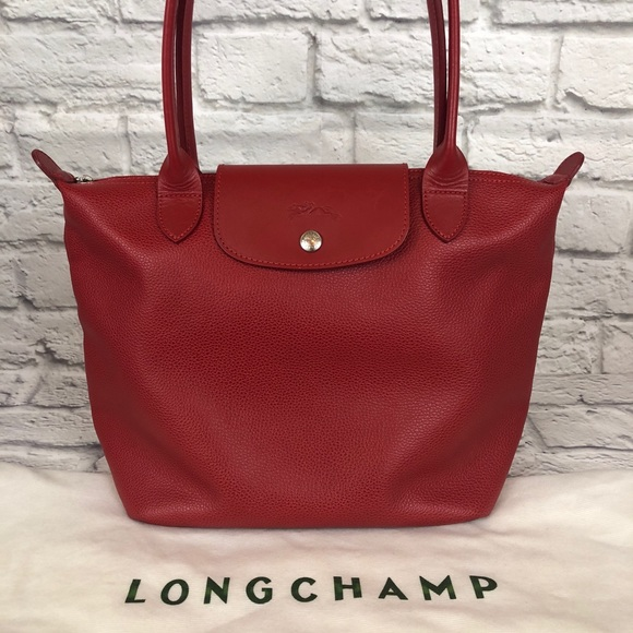 Longchamp Handbags - LONGCHAMP Le Pliage leather made in France 12f35a78ea62c