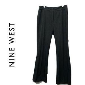 Nine West 8 Dark Gray Dress Pants Solid Career