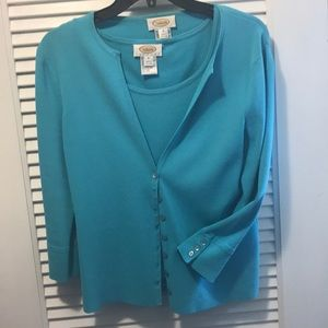 Two piece Talbots knit sweater