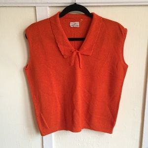 Vintage 50s/60s Orange Blouse