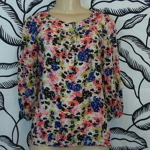 Sz 0 Maeve Anthropologie floral blouse
