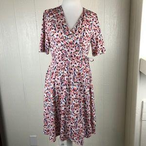 [asos] Wrap Floral tie dress size 12