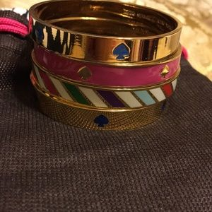 Kate Spade set of four gold bangles